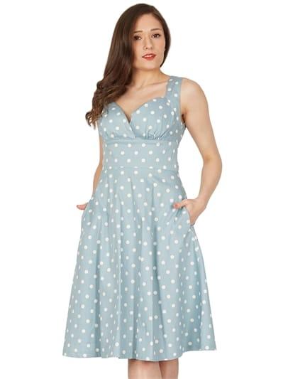Layla Polka Swing Dress