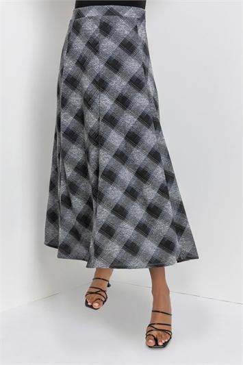 GREY Modern Checked Skirt