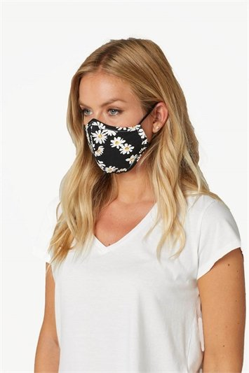 Daisy Print Fast Drying Fashion Face Mask