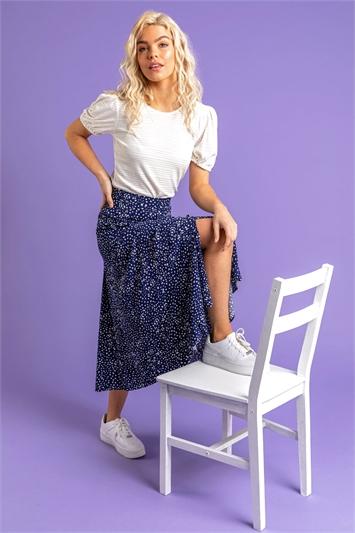 Confetti Spot Print Midi Skirt