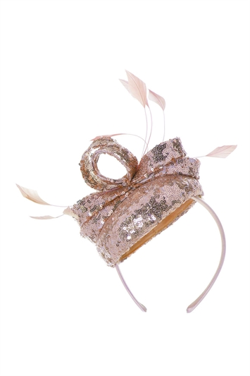 Sequin Pillbox Fascinator