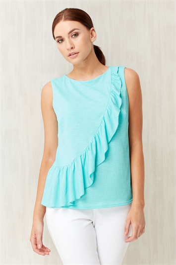 Frill Textured Jersey Top