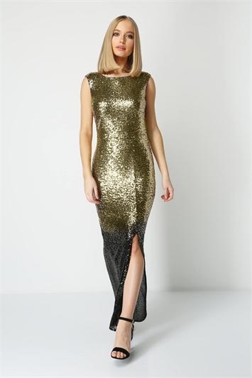 Ombre Sequin Maxi Dress