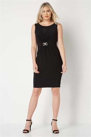 Ruched Trim Detail Dress