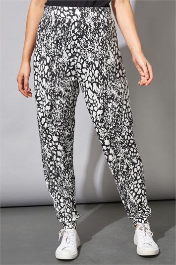 Black Animal Print Lounge Pants