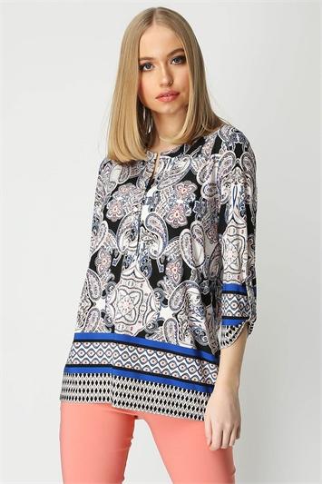 Paisley Print Longline Shirt