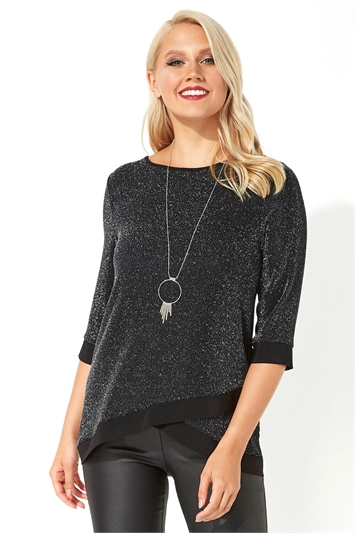 Necklace Trim Shimmer Top