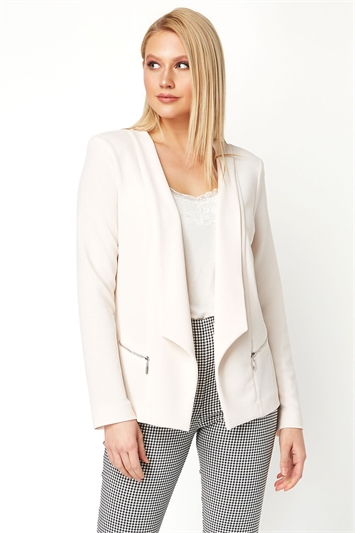 Textured Zip Detail Jacket