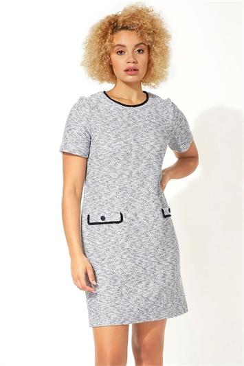 Tweed Textured Shift Dress