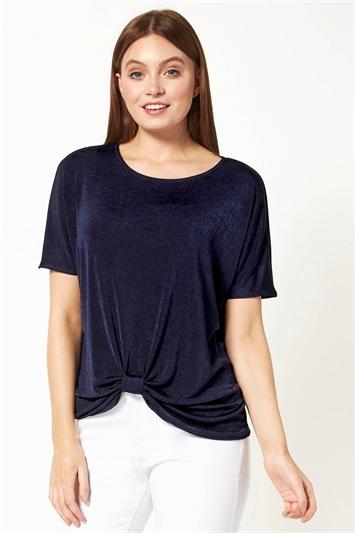 Twist Front Detail T-Shirt