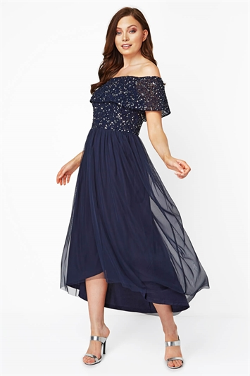 Bardot Sequin Midi Dress