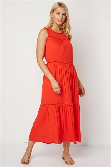 Ladder Trim Maxi Dress
