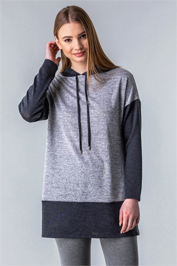 Two Tone Lounge Hooded Top