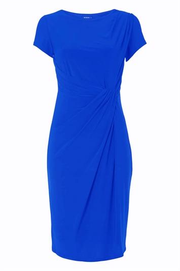 Short Sleeve Twist Waist Dress
