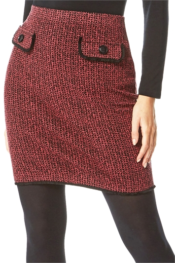 Pink Two Tone Textured Skirt , Image 1 of 5