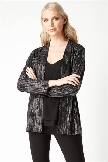 Longline Glitter Jacket