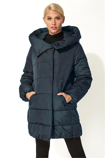 Duvet Wrap Longline Padded Coat