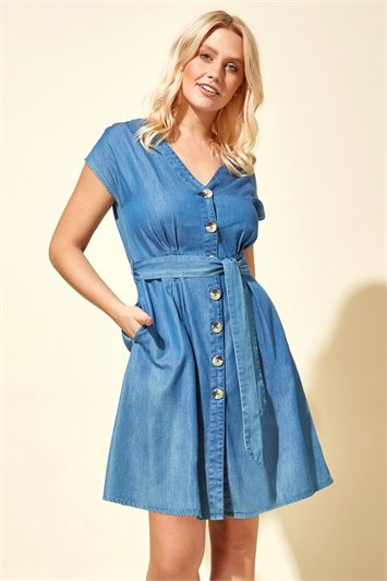 Button Through Pocket Dress