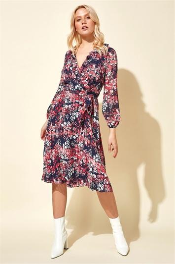 Ditsy Floral Print Wrap Dress