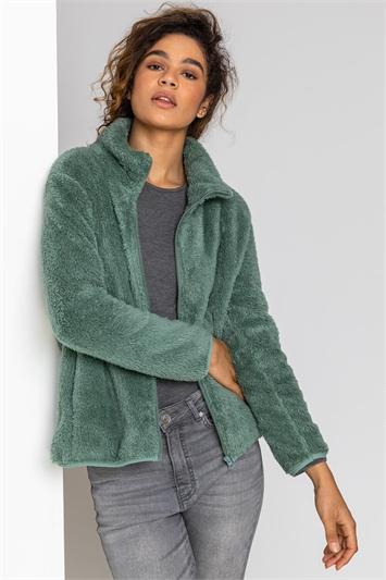 Sage Soft Sherpa Fleece Jacket