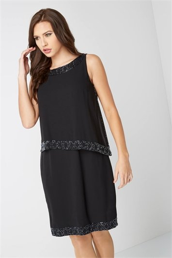 Embellished Double Layer Dress