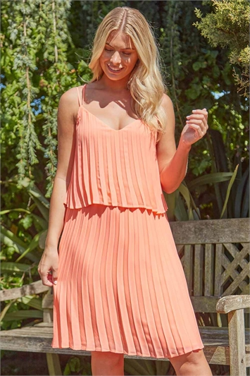 Pleated Double Layer Summer Dress