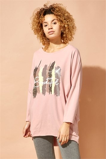 Foil Print Beautiful Lounge Jumper