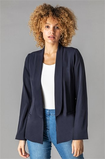 Collared Blazer Jacket