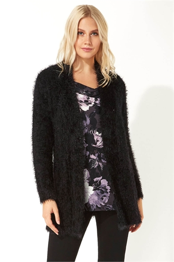 Fluffy Long Sleeve Cardigan