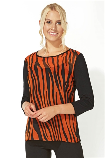 Animal Print T-Shirt Top