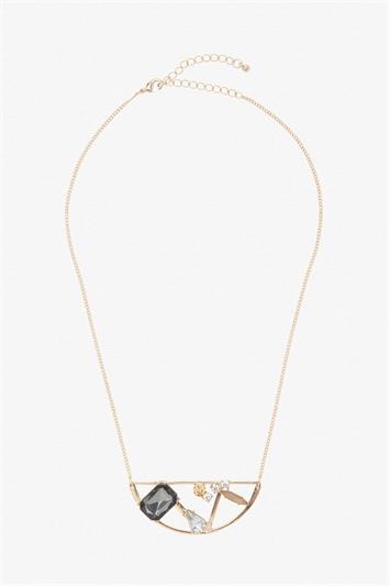 Semi Circle Gem Necklace