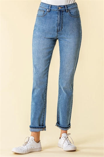 Slim Leg Mom Jeans