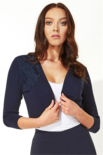 Lace Trim Bolero Shrug