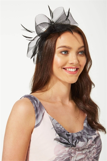 Bow and Feather Fascinator