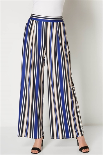 Stripe Ribbed Palazzo Trousers
