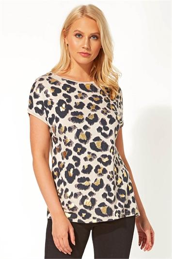 Leopard Foil Print T-Shirt