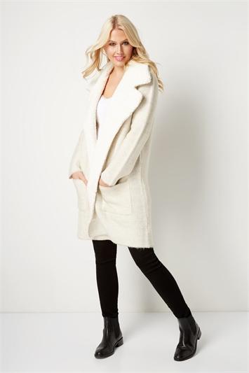 Textured Faux Fur Coatigan