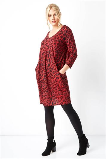 Animal Leopard Print Slouch Dress