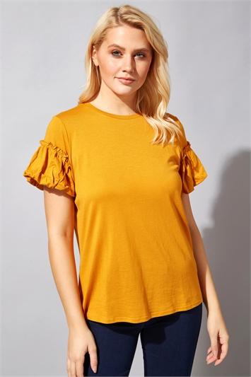 Frill Puff Sleeve T-Shirt