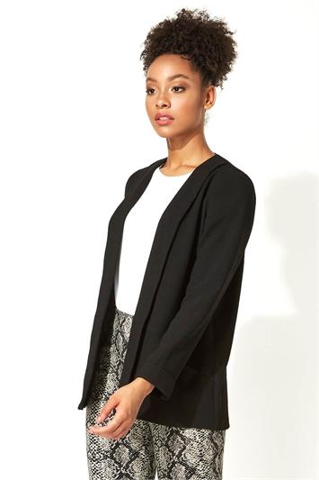 Long Sleeve Crepe Jacket