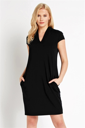 V Neck Cocoon Dress