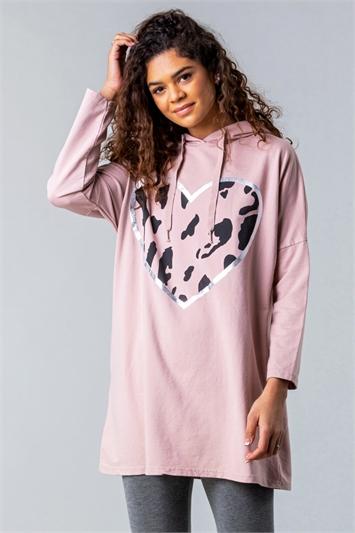 Camo Heart Hooded Lounge Sweatshirt