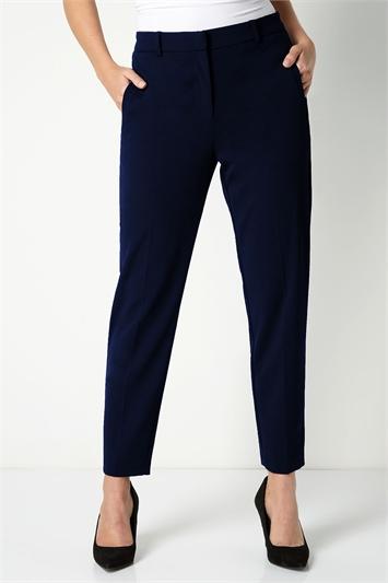 Navy Straight Leg Tapered Trouser