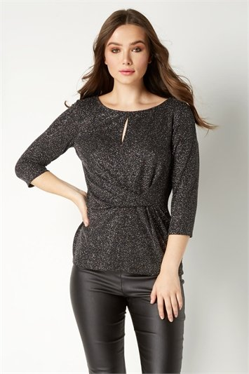 Shimmer Knot Front Top
