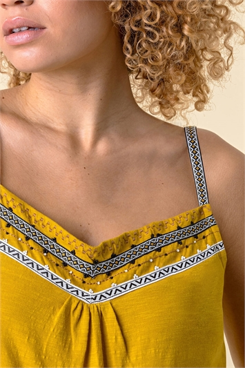 Amber Embroidered Yoke Cami Top