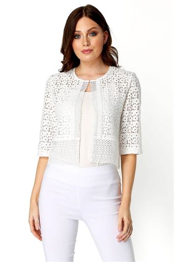 Floral Lace Border Jacket