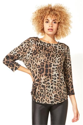 Animal Leopard Print Top