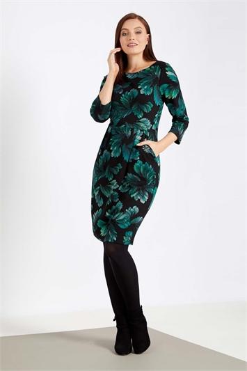 Floral Print Ponte Dress