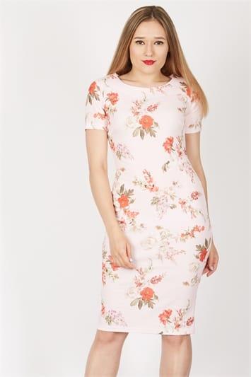 Feverfish Printed Bodycon Dress