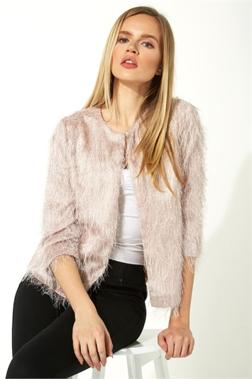 Textured Fringe Jacket